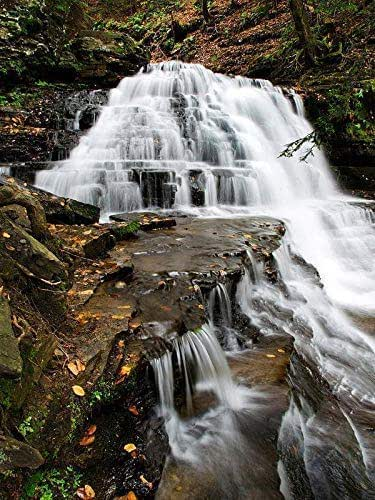 Amazon.com: Waterfall Print Scenic Landscape Photography