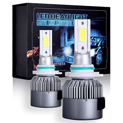 (ECCPP 9005/HB3 LED Headlight Bulb Hi/Lo Beam White Fog Lights Conversion Kit - 80W 6000K 10400Lm - 3 Year Warranty(Pack of 2))