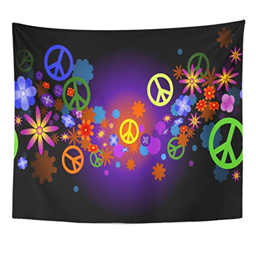 Breezat Tapestry Psychedelic Wave of Flower Blossoms