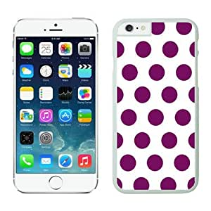 Iphone 6 Case 4.7 Inches, White and Purple Dot Graceful Iphone 6 Case Cover Speck, White TPU Soft Phone Case Cover for Apple Iphone 6