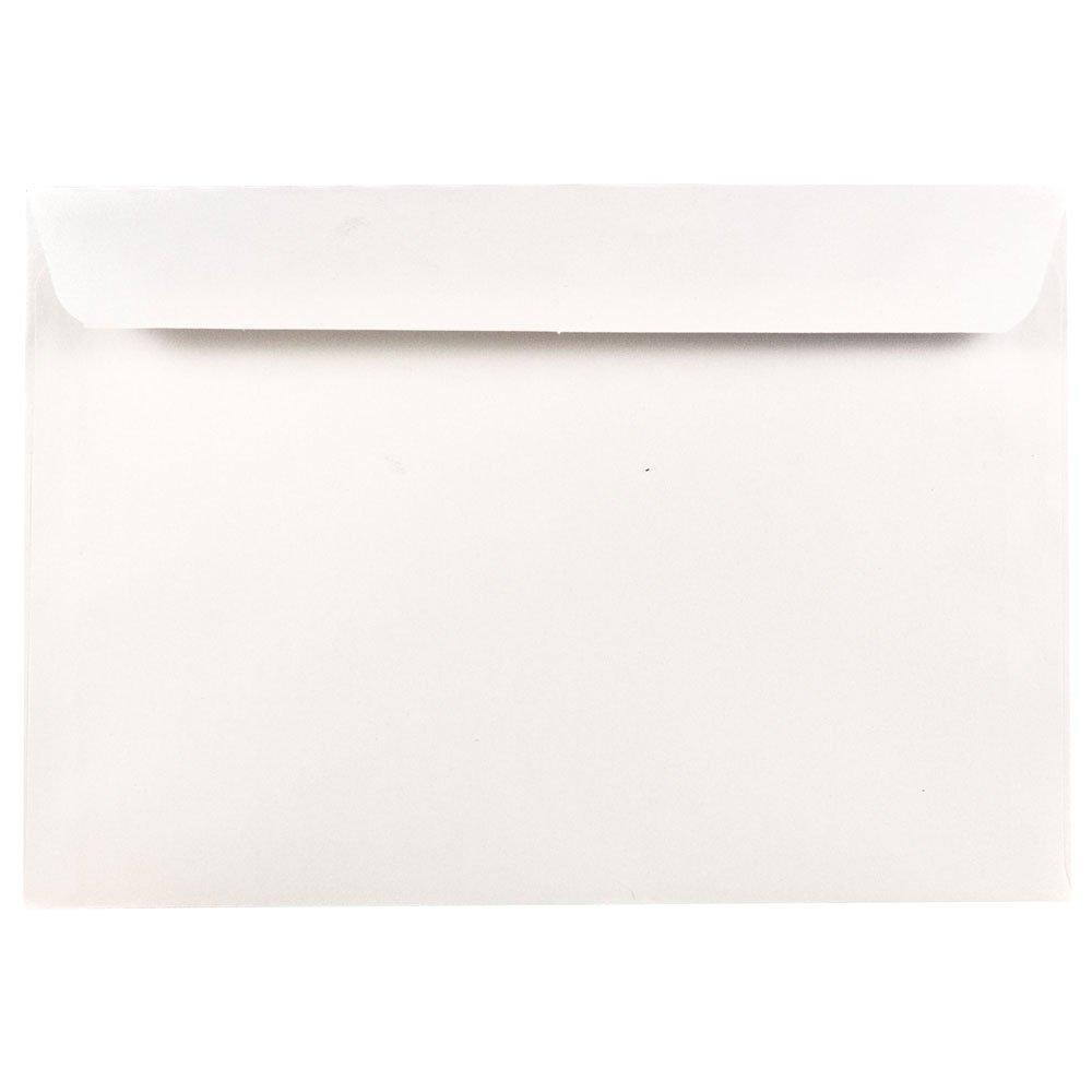 JAM PAPER 6 1/2 x 9 1/2 Booklet Commercial Envelopes - White - 50/Pack