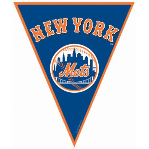 [New York Mets Baseball - Pennant Banner Party Accessory] (Halloween Decorations New York)