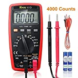 RAGU 81D Auto Ranging Digital Multimeter, AC/DC Voltage/Current Resistance Temperature Diode Continuity Measurement Tool, Electronic Test Meter / Measuring Instrument
