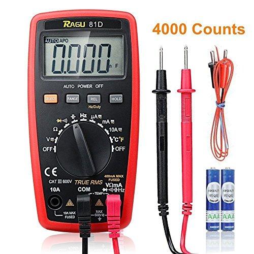 Measurement Instruments (RAGU 81D Auto Ranging Digital Multimeter, AC/DC Voltage/Current Resistance Temperature Diode Continuity Measurement Tool, Electronic Test Meter / Measuring Instrument)