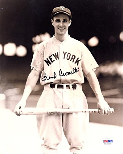 FRANK CROSETTI SIGNED AUTOGRAPHED 8x10 PHOTO NEW YORK