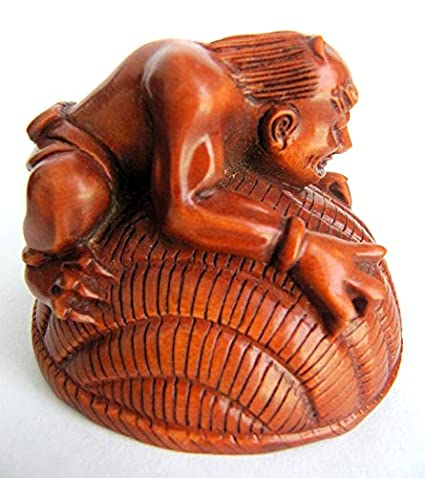 Group of three japanese boxwood carvings for sale at auction on