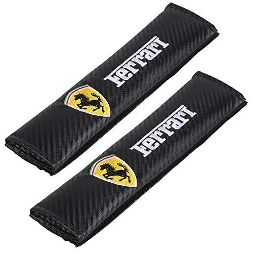 Auto Seat Belt Cover Shoulder Pad Cushion (2 Pcs) fits All Type of car and car Seats Seat Belt Pads (Ferrari)
