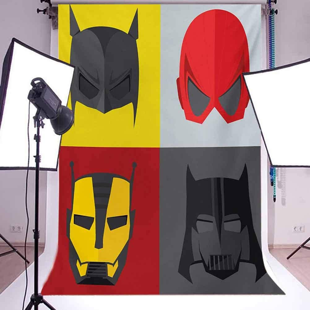 10x15 FT Photo Backdrops,Masks for Disguise of Heroes for Evil Fun Cartoon Funny Retro Art Prints Background for Kid Baby Boy Girl Artistic Portrait Photo Shoot Studio Props Video Drape Vinyl