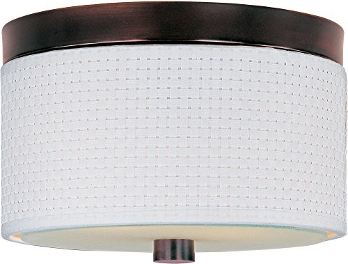 ET2 E95100-100OI Elements 2-Light Flush Mount, Oil Rubbed Bronze Finish, Glass, GU24 Fluorescent Bulb, 11.5W Max., Damp Safety Rated, 2900K Color Temp., Standard Dimmable, Glass Shade Material, 2250 Rated - Elements 100oi Oil