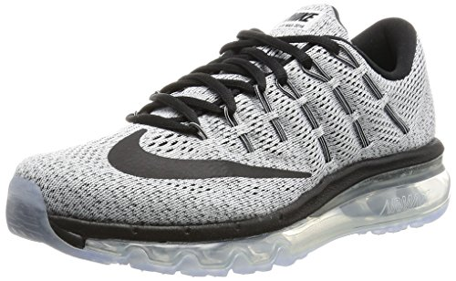 Nike Damen Wmns Air Max 2016 Laufschuhe Blanco (White / Black)