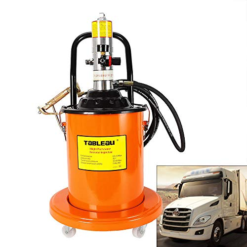 Air Operated High Pressure Grease Pump 20L+Pneumatic Universal Gun+Hose 5 Gallon Electric Grease Pump Air-Operated Portable Grease Pump 0.85L/Min (Air Grease Pump For 5 Gallon Bucket)