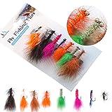 #4: Fly Fishing Flies Assortment Rainbow trout RTA -8 pics Handmade Bead Head Woolly Bugger Classic Streamer