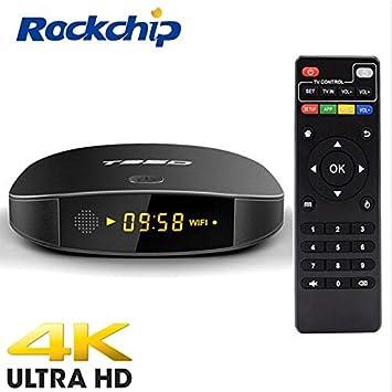 2018 Nuevo) Android Smart TV Box, T95D Android 6.0 1GB / 8GB Rockchip RK3229 Quad Core 32bit TV Box Soporte 2.4G Wifi 4K Ultra HD: Amazon.es: Electrónica