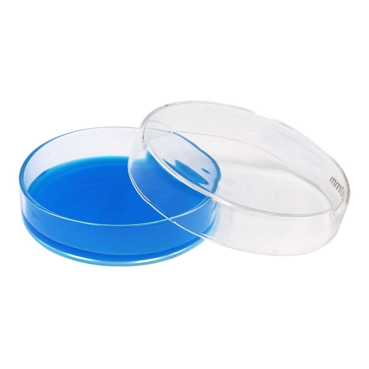 90mm, 10 Lab Glass Petri Dish with Lids Petri Dish Kit Tissue Culture Plate for Science Projects