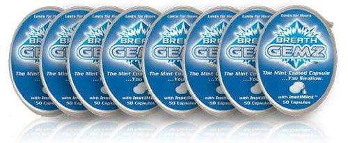 BreathGemz All Natural Mint Capsules de souffle couché (8 packs de 50)