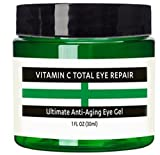 Raw Biology Vitamin C Anti aging Eye Cream Gel. This Gel moisturizer with Hyaluronic acid & Vitamin E is the Best anti aging eye repair for Dark circles, crows feet, eye brightener