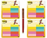 Post-it Page Markers, 1/2 in x 1 3/4 in (2000-Sheet Bundle, Assorted Bright Colors) - Bundle Includes Plexon Ballpoint Pen