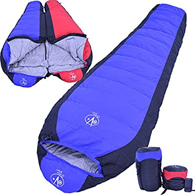 Outdoor Vitals 15 Degree Down Sleeping Bag, Mummy Style, 3 Season, Lightwieght