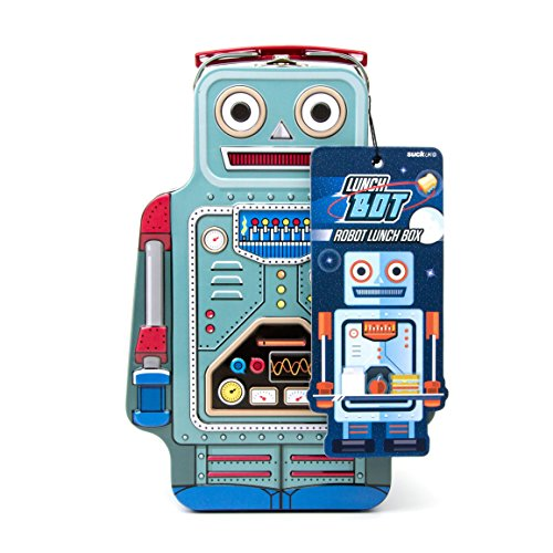 SUCK UK Robot Tin Lunch Box ()