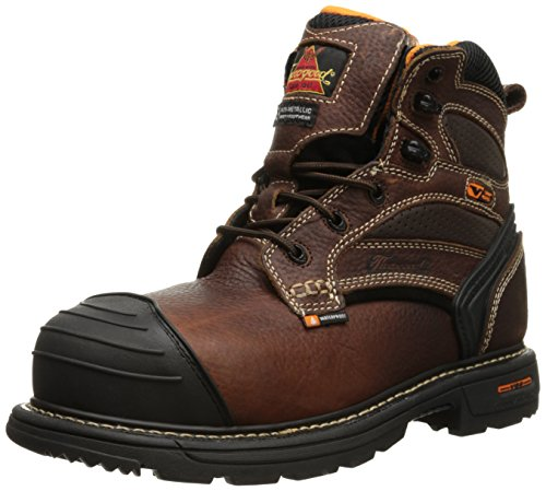 Thorogood Mens Gen-Flex 6 Inch Waterproof Safety Toe Boot Brown