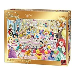 King 85523 Disney Happy Birthday Puzzle Da Pezzi 90 X 60 Cm