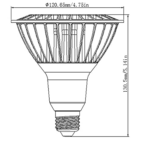 LEDwholesalers UL Dimmable LED PAR38 Spot/Flood Light Bulb With Interchangeable Lens 16-Watt, White, 1335WH - фото 10