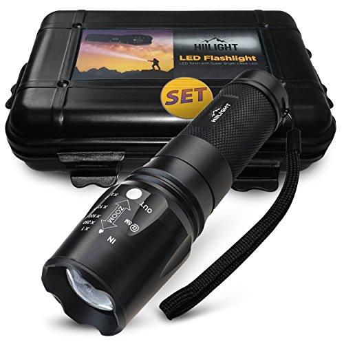 HIILIGHT Taktische LED Taschenlampe XML T6 +Akku +Ladegerät Set
