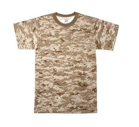 Rothco Kids T-Shirt, Desert Digital Camo, Large