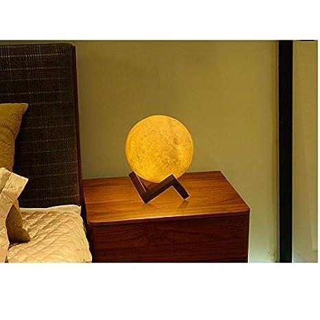 Luz de noche,Usb carga de luz de la luna 3d carga luz ambiente de ...