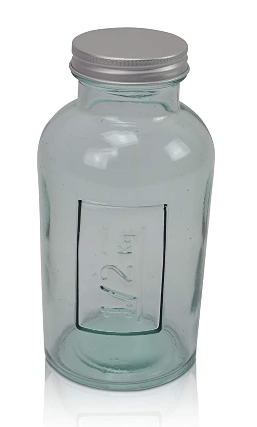 CHICCIE - Juego de 2 Botellas de Cristal con tapón de Rosca (500 g ...