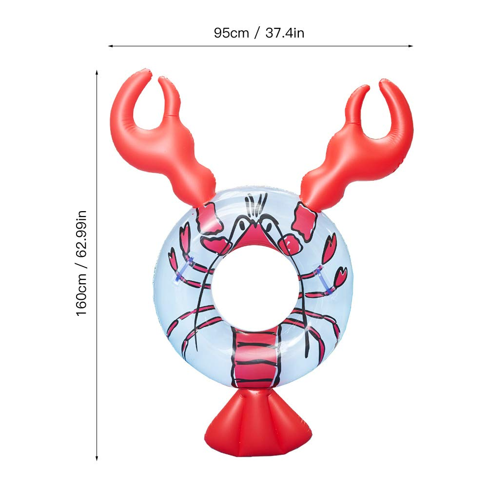 JUST N1 Inflatable Float Row Ins Lobster Animal Floating Hammock Water Air Bed Swimming Pool Lounge for Adult Children Seaside Water Entertainment by JUST N1 (Image #4)
