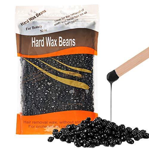 Depilatory Wax Beans Wokaar Painless Hard Wax Beans Hair Removal Wax Beads for Women Men 300g/10oz(Nature)