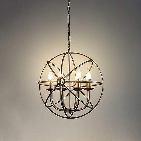 Metal Orb Chandelier Black Globe Sphere Modern Ceiling