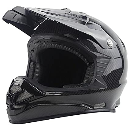 DOOPU Casco de fibra de carbono masculina fuera de la carretera de la motocicleta fuera del