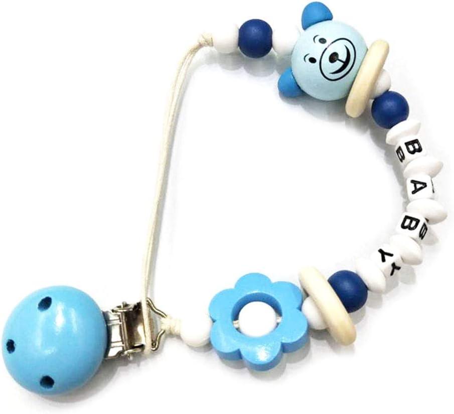 Support De Dentition En Perles De Dentition En Bois Pour Nourrissons Et Tout-petits Nangjiang Attache-t/étine Cha/îne De Dentition Pour B/éb/é
