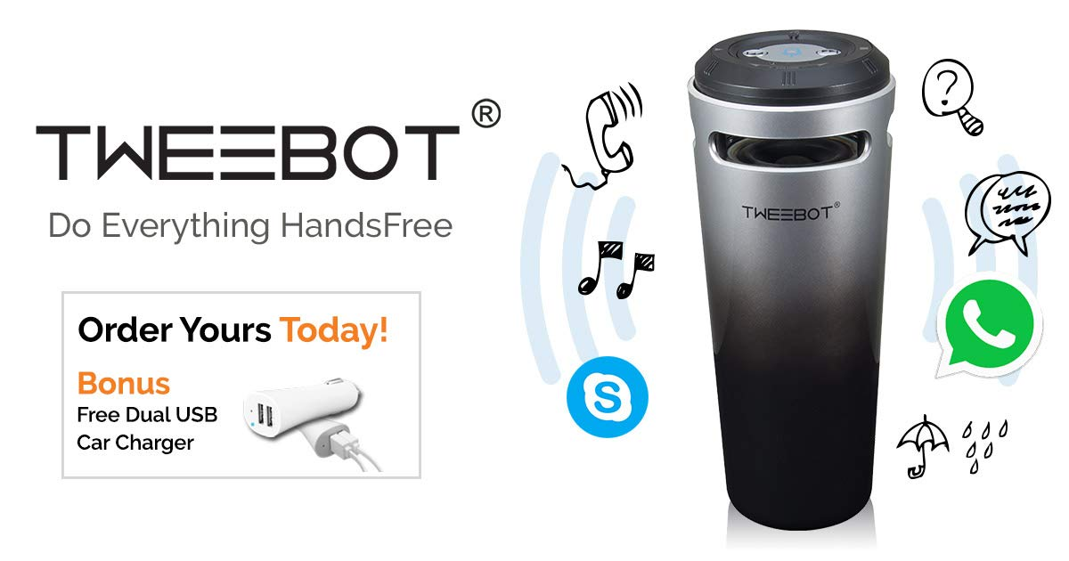 Tweebot Handsfree Bluetooth Device by Tweebaa.com
