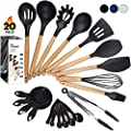 Kitchen Utensil Set - 20 Cooking Utensils. Kitchen Gadgets for Nonstick Cookware Set. Kitchen Accessories, Silicone Spatula set, Serving Utensils. Best Silicone Kitchen Utensils Tools Gifts - ÉLEVER