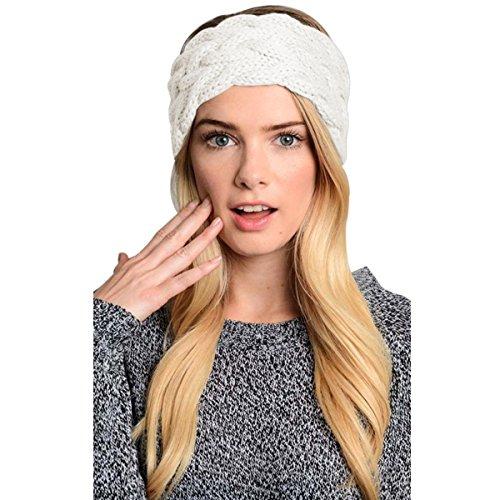 Crochet Headband (Womens Winter Knitted Headband - Crochet Twist Hair Band Headwrap Hat Cap Ear Warmer)