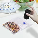 Cordless Mini Vacuum Sealer Machine, USB Rechargeable Vacuum Sealing System Food Storage Saver with 5 Reusable Storge Zipper Bags, Black