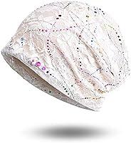 Molans Women Chemo Hat Beanie Cap - Lace Head Scarf Turban Cancer Headwear Head Wraps Sleep Hat