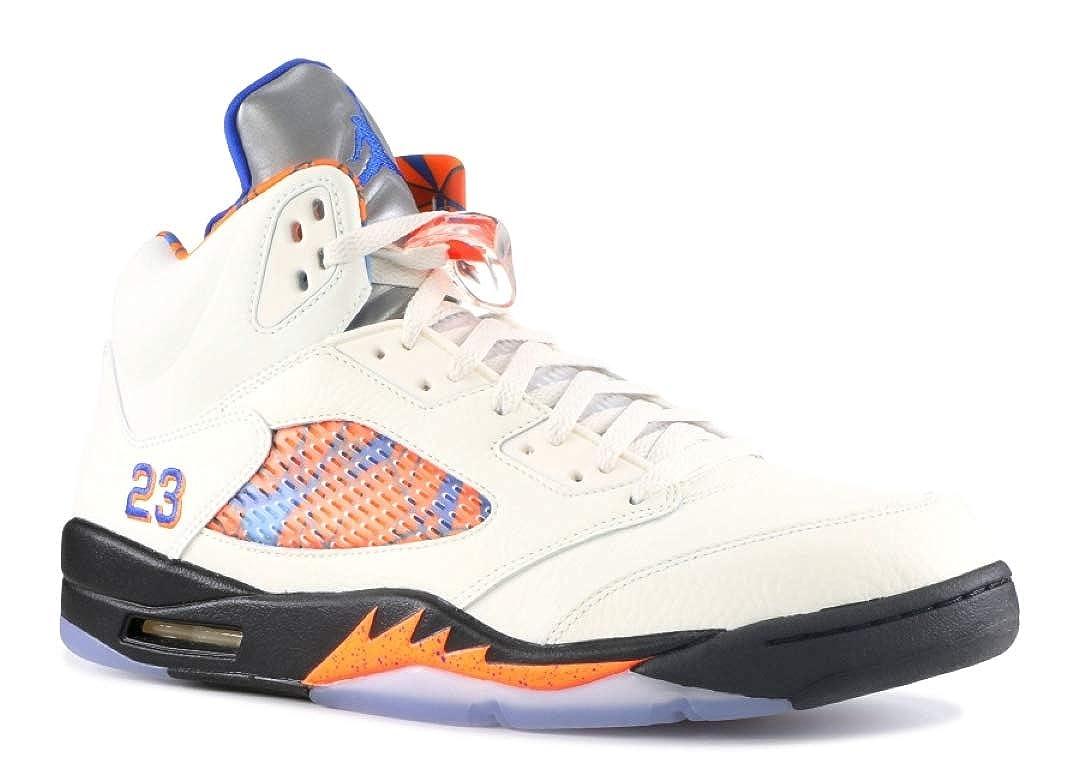 Sail, Orange Peel-schwarz-hyper Royal Nike Herren Air Jordan 5 Reflektierende Camo Schuhe aus dunkelGrößem Wildleder 136027-051