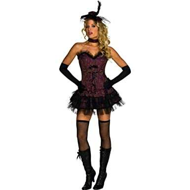 92d9866be Amazon.com Rubieu0027s Womenu0027s Sexy Adult Oo La La Purple Burlesque Saloon  Girl Costume Clothing Sc 1 St Amazon.com
