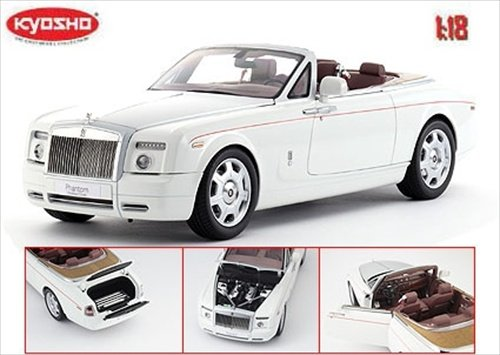Rolls Royce Phantom Drophead Coupe English White 1/18 by Kyosho 08871 (Rolls Royce Model compare prices)