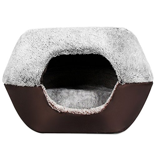 Cheap Yooyoo Soft Washable Dog Cat Bed with Removable Cushion, Pet Ger House Nest Dog Kennel Bed, Durable Comfortable Easy Clean (Light Gray)