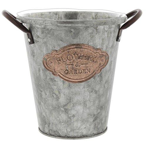 Lucky Winner Flowers & Garden Galvanized Metal Bucket Planter (6