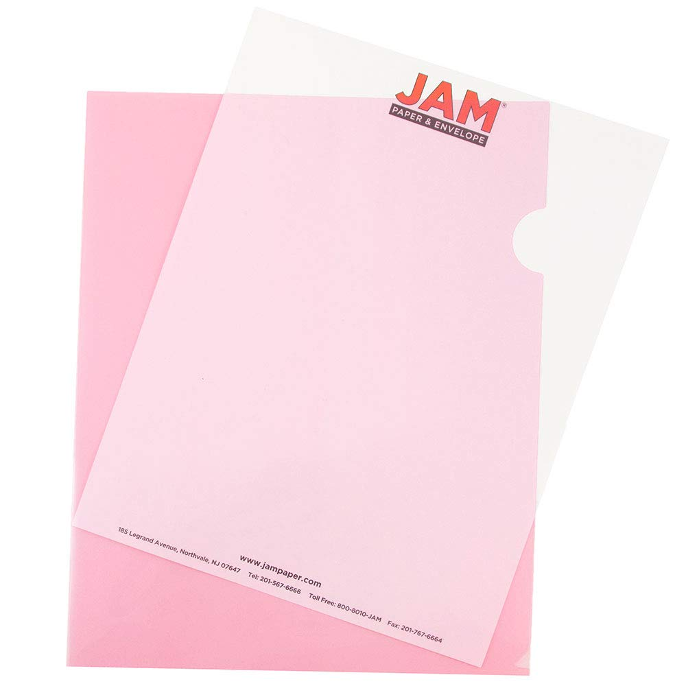 Clear Project Pockets JAM PAPER Plastic Sleeves 12 Page Protectors//Pack Letter Size 9 x 11 1//2