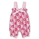 Kickee Pants Little Girls Print Gathered Romper with Bow Girls Desert Flower, 3-6 Months offers