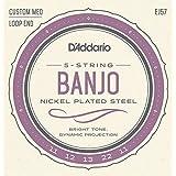 D'Addario EJ57 Nickel 5-String Banjo Strings, Custom Medium, 11-22