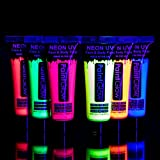neon blacklight paint - UV Glow Blacklight Face and Body Paint 0.34oz - Set of 6 Tubes - Neon Fluorescent