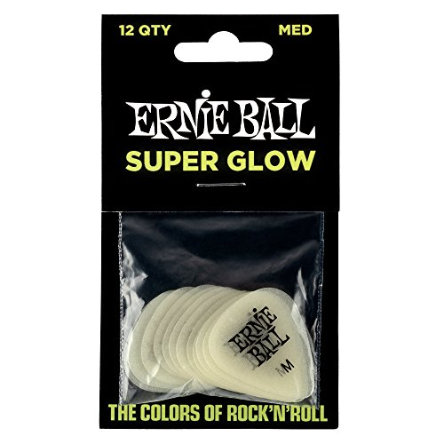 - Ernie Ball Medium Super Glow Guitar Picks, Bag of 12